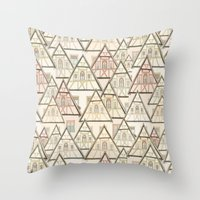 Pattern Houses Throw Pillow