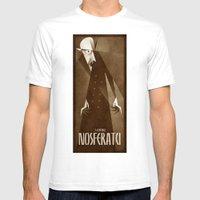 Nosferatu 1922 Mens Fitted Tee White SMALL