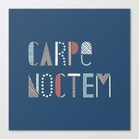 Carpe Noctem Canvas Print