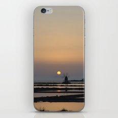 windmill at sunset iPhone & iPod Skin