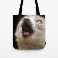 Crowned Lemur Singing Tote Bag