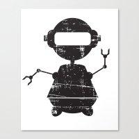 ROBO SI BW Canvas Print