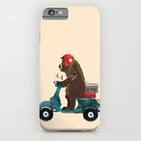 iPhone Cases featuring scooter bear by bri.buckley