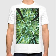 Looking up in Woods Mens Fitted Tee White SMALL