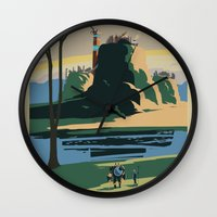Thunder Bluff Classic Rail Poster Wall Clock