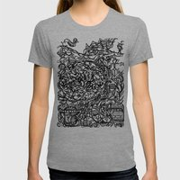 Brace for the Wave Womens Fitted Tee Tri-Grey SMALL