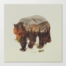 Wild Grizzly Bear Canvas Print
