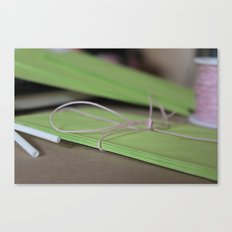 Green Envelopes Canvas Print