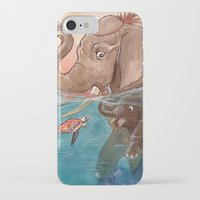 elephants iPhone & iPod Cases featuring Elephants by Paloma  Galzi
