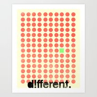 Be Different Art Print