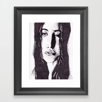 ??? Girl Framed Art Print