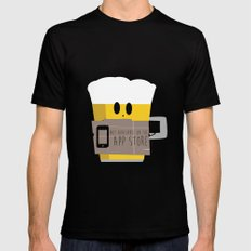 Not available on the app store: beer SMALL Mens Fitted Tee Black