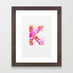 K_ Framed Art Print