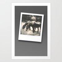 Polaroid Ponies Art Print
