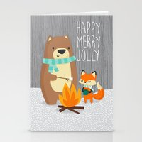 Happy Merry Jolly Stationery Cards