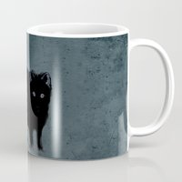 Cat and bird friends! Mug