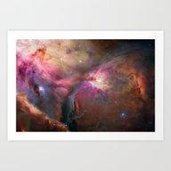 Art Print featuring Space Nebula by Zavu