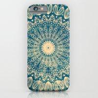 BLUE ORGANIC MANDALA iPhone 6 Slim Case