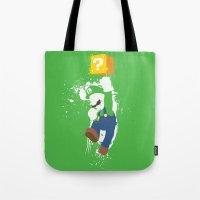 Luigi Paint Tote Bag