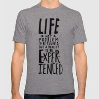 Life Mens Fitted Tee Tri-Grey SMALL