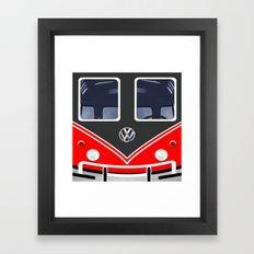 red vw volkswagen Framed Art Print