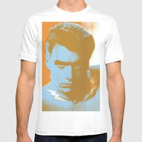 clint Mens Fitted Tee White SMALL