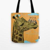 Giraffe & Singing Birds … Tote Bag