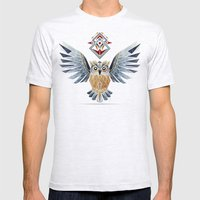 owl winter Mens Fitted Tee Ash Grey SMALL