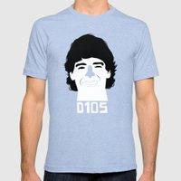 Diego Armando Maradona Mens Fitted Tee Tri-Blue SMALL