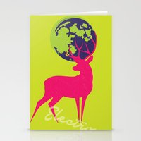Electro deer Stationery Cards