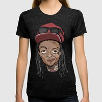 Weezy Womens Fitted Tee Tri-Black SMALL