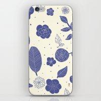 Blue Flower iPhone & iPod Skin