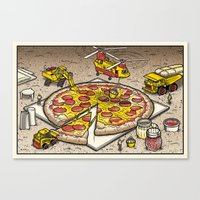 Pizza Time Canvas Print