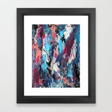 Blue Moon Abstract Framed Art Print