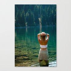 Le Lady Lake Canvas Print