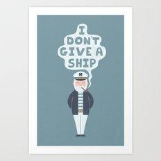 Indifferent Captain Art Print
