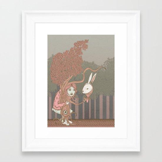 """Nel bosco immaginario"" Framed Art Print"