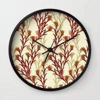 autumn pattern Wall Clock