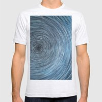 Deep Sky Star Trail Mens Fitted Tee Ash Grey SMALL