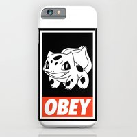 iPhone & iPod Case featuring OBEY Bulbasaur by Royal Bros Art