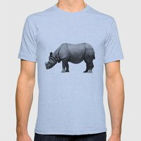 Bored Rhino Mens Fitted Tee Athletic Blue SMALL