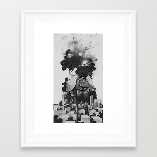 The Night Gatherer Framed Art Print