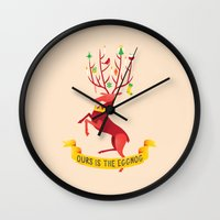 Ours Is The Eggnog Wall Clock