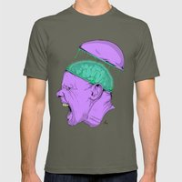 Brain Stain Mens Fitted Tee Lieutenant SMALL