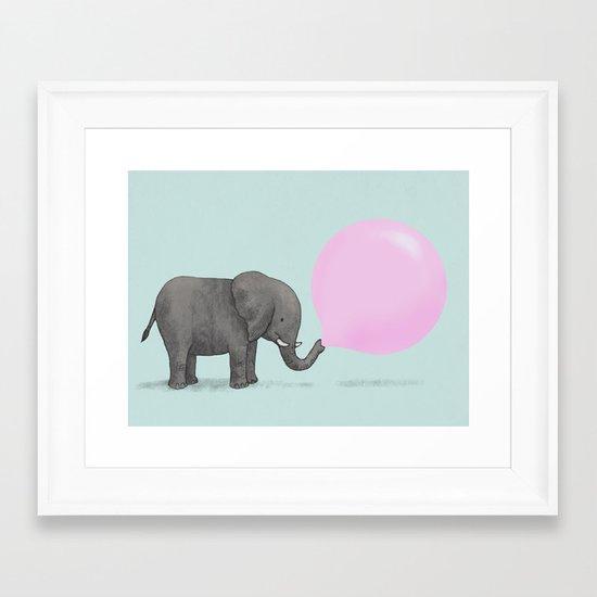 Jumbo Bubble Framed Art Print