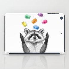 raccoon with cookies iPad Case