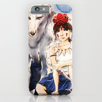 iPhone & iPod Case featuring Princess Mononoke by Tiffany Willis