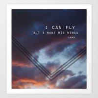 I Want His Wings Art Print
