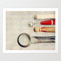 Diamond Tools Art Print