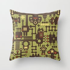 World of robots. Throw Pillow